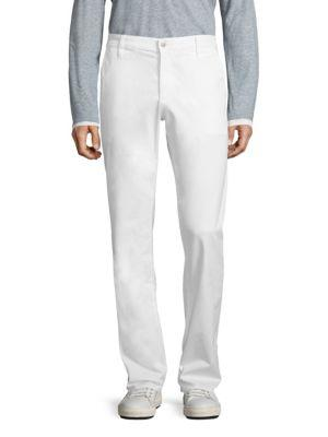 Ag Green Label Graduate Brushed Pants In Bright White