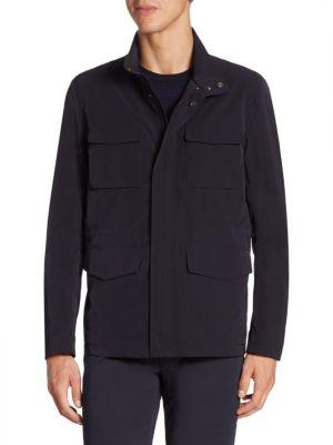 Armani Collezioni Fourway Long Sleeve Jacket In Navy