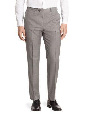 Armani Collezioni Wool Trousers In Grey