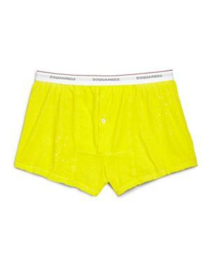 Dsquared2 Ink Splatter Boxers In Yellow