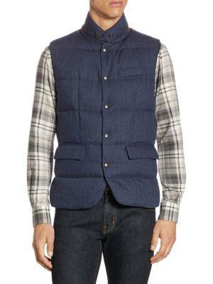 Ralph Lauren Lloyd Wool Down Vest In Dark Navy