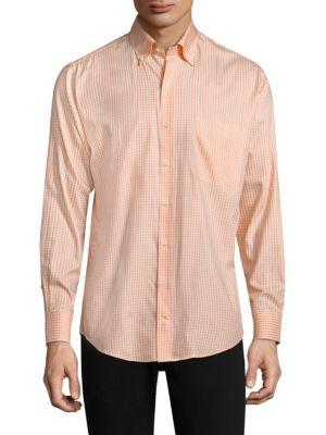 Peter Millar Crown Gingham Button-down Shirt In Dreamsicle