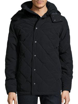 Canada Goose Webster Duck Down Hooded Coat In Black