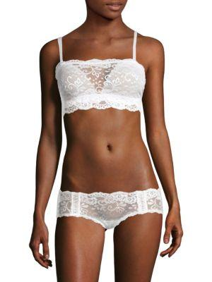 Les Coquines Aimee Lace Bralette In Blanc