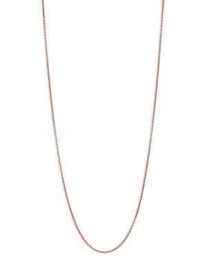Monica Vinader Fine 18k Rose Gold-plated Chain Necklace