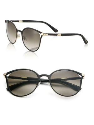 Jimmy Choo Neiza 54mm Round Sunglasses In Black