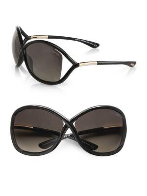 Tom Ford Whitney 64mm Polarized Injected Sunglasses In Black