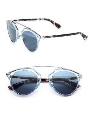 Dior So Real 48mm Pantos Sunglasses In Aqua