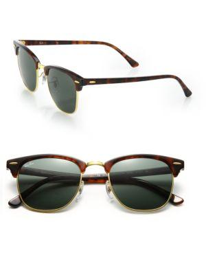 Ray Ban Rb3016 51mm Classic Clubmaster Sunglasses In Dark Tortoise