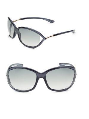 Tom Ford Jennifer 61mm Rectangular Sunglasses In Dark Grey Lens