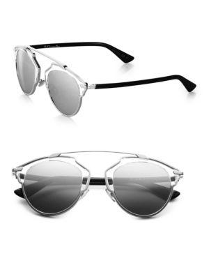 Dior So Real Metal & Plastic Sunglasses In Palladium