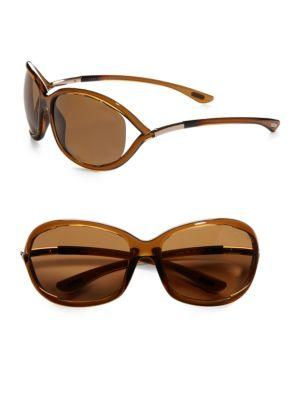Tom Ford Jennifer 61mm Polarized Oval Sunglasses In Brown