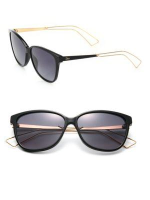 Dior Confident 57mm Square Sunglasses In Black
