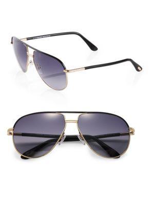 Tom Ford Cole Aviator Sunglasses In Black