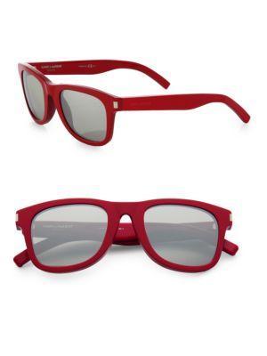 Saint Laurent Round-frame Sunglasses In Red
