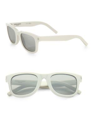 Saint Laurent Round-frame Sunglasses In White