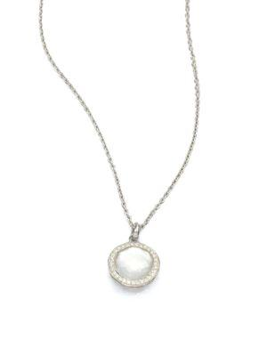 Ippolita Lollipop Small Sterling Silver, Mother-of-pearl & Diamond Ring In Silver-pearl