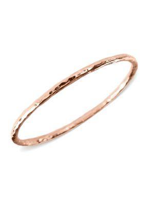 Ippolita RosÉ Carino #2 Hammered Bangle Bracelet In Rose