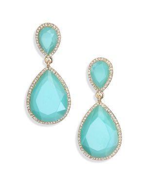 Abs By Allen Schwartz Faceted Drop Earrings In Blue
