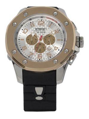 Kyboe! Stainless Steel Chronograph Watch In Black