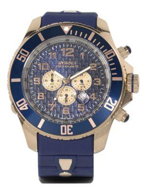 Kyboe! Stainless Steel Chronograph Watch In Blue-rose