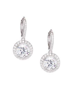 Adriana Orsini PavÉ Drop Earrings In Silver