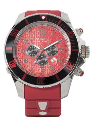Kyboe! Stainless Steel Chronograph Watch In Red