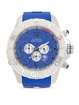 Kyboe! Stainless Steel Chronograph Watch In Blue