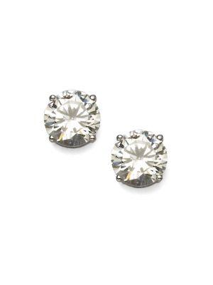 Adriana Orsini Brilliant-cut Sterling Silver Stud Earrings In Clear