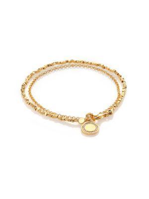 Astley Clarke Biography White Sapphire Cosmos Beaded Friendship Bracelet In Gold