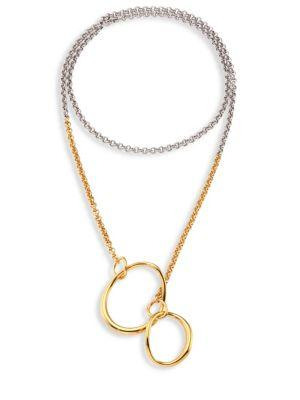 Charlotte Chesnais Symi Two-tone Pendant Necklace In Silver-gold