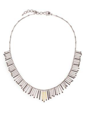 Coomi Silver Diamond, 20k Yellow Gold & Sterling Silver Necklace In Silver-gold