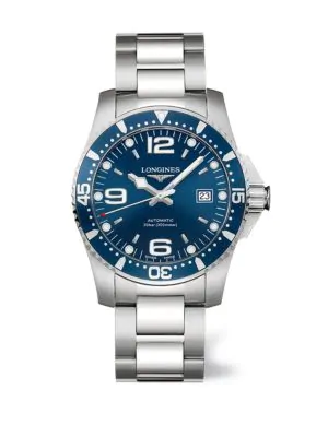 Longines Men's Hydroconquest Stainless Steel Automatic Bracelet Watch In Blue Silver