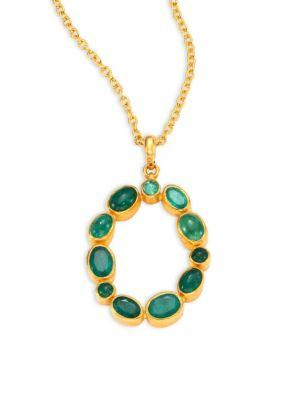 Gurhan Amulet Hue Emerald & 24K Yellow Gold Pendant Necklace In Gold-Emerald