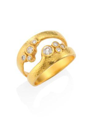 Gurhan Pointelle Diamond & 22-24k Yellow Gold Dual Ring