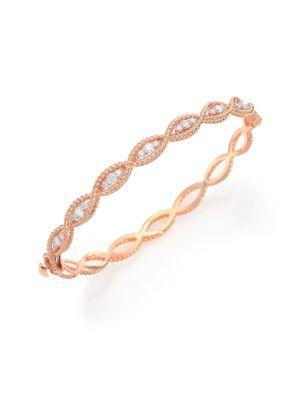 Roberto Coin Barocco Diamond & 18k Rose Gold Braided Bangle Bracelet