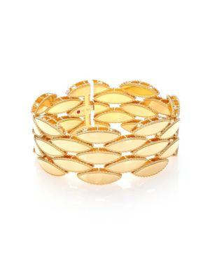 Roberto Coin Retro 18k Yellow Gold Wide Bracelet
