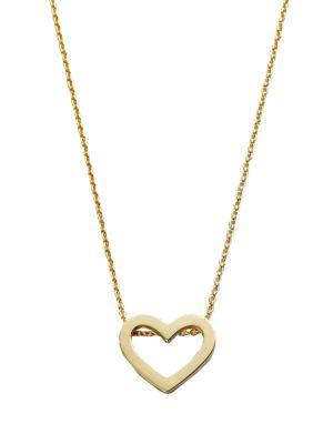 Roberto Coin Tiny Treasures 18K Yellow Gold Heart Pendant Necklace