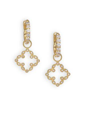 Jude Frances Classic Diamond & 18K Yellow Gold Open Clover Marquis Earring Charms