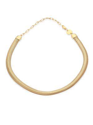 Jennifer Zeuner Jewelry Della Snake Chain Choker In Gold