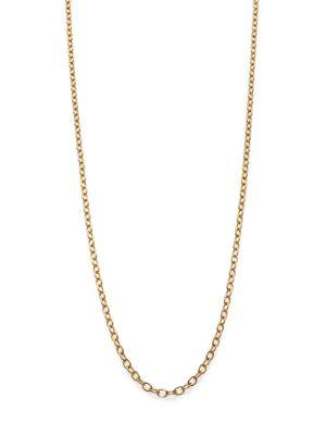 Temple St. Clair 18k Yellow Gold Extra-small Oval Link Necklace Chain/18""