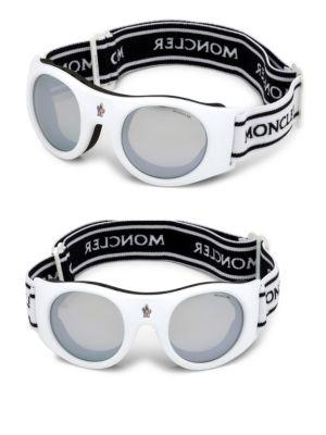 Moncler Logo Band Goggles In White