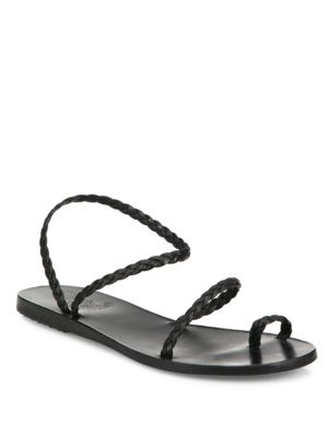 Ancient Greek Sandals Eleftheria Nappa Strappy Sandals In Black