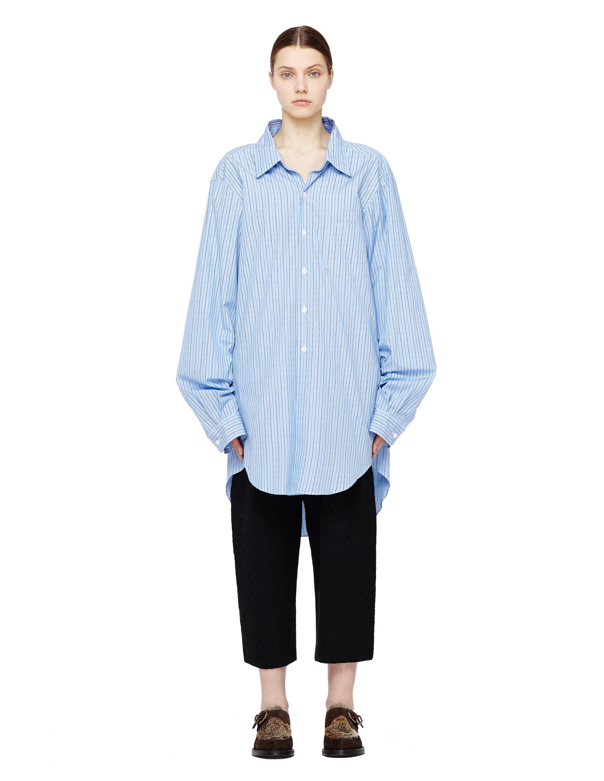 Junya Watanabe Striped Light Blue Shirt Dress