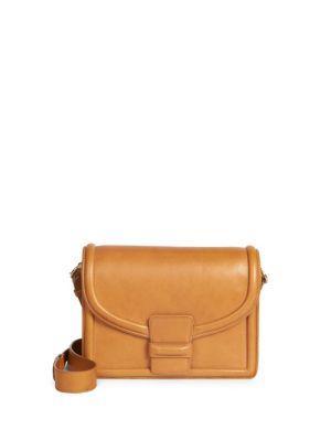 Dries Van Noten Flap Leather Crossbody Bag In Camel