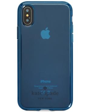 Kate Spade New York Flexible Tinted Iphone X Case In Navy X