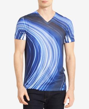 Calvin Klein Men's Lightway-print T-shirt, Created For Macy's In Astral Aura