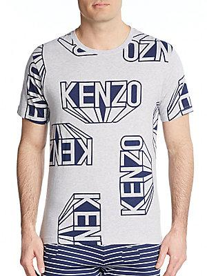 Kenzo Graphic Tee In Grey