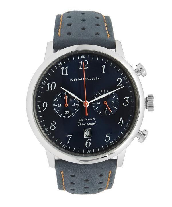 Armogan Le Mans Chronograph Watch In Blue