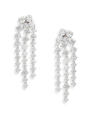 Adriana Orsini Statement PavÉ Chandelier Earrings In Silver